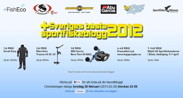 sveriges bästa sportfiskeblogg 2012