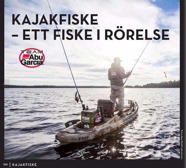 En artikel om kajakfiske skriven av team medlemmen Anton