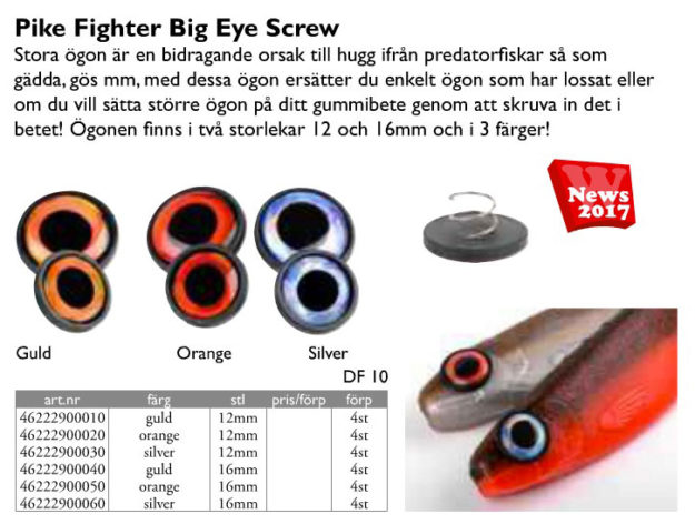 Spro Pike Fighter Big Eye Screw